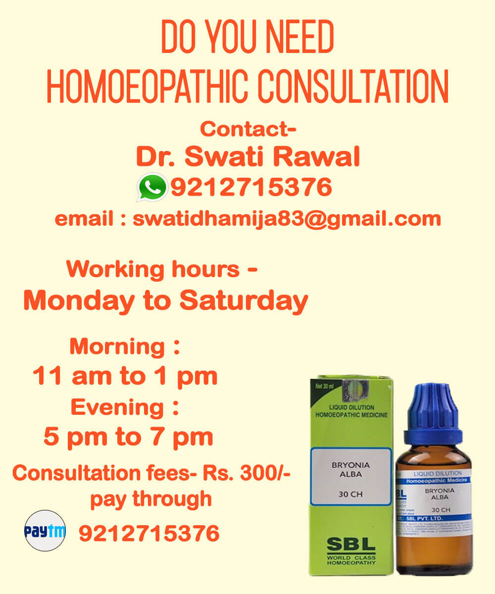 Homoeopathic Consultation