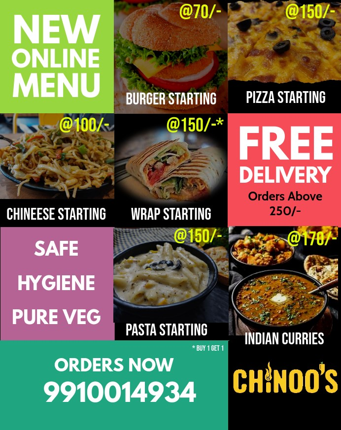 Online Menu, Only Delhi